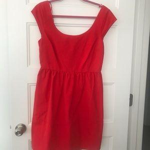 Cute red dress.